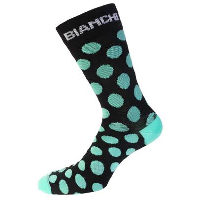Bianchi Coolmax Cycling Socks in WHITE//CELESTEMade in Italy
